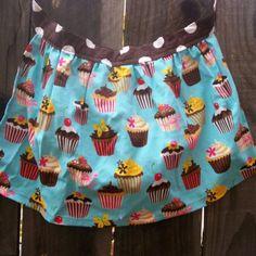 Turquoise Cupcakes, Pink Cupcakes, Cupcake Crafts, Half Apron, Robert Kaufman, Is 11, Aprons, Sewing Ideas, More Fun