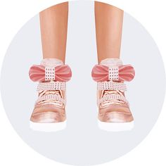 Sims 4 Updates: Marigold - Shoes, Shoes for females, Shoes for males : Child bow high top sneakers, Custom Content Download!