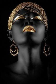 Fashion photography portrait people Ideas - New Site Black Art, Black Women Art, Black And White, Black Gold, Color Black, Art Women, African Beauty, African Women, African Art