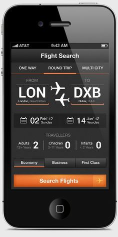 Flight Search App - Airwala   Awesome Design Inspiration