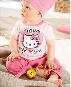 Goedkope , koop rechtstreeks van Chinese leveranciers:  Hello kitty meisjes sjaal korte- mouwen voor baby pakGrootte:80/90/1001 lots=5pcs=size( 80/90/100)( 2:2:1)