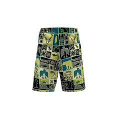 Artemis Clothing Ezra Shorts made with Spoonflower designs on Sprout Patterns. Pattern with mountain animals and designs in tribal style.
