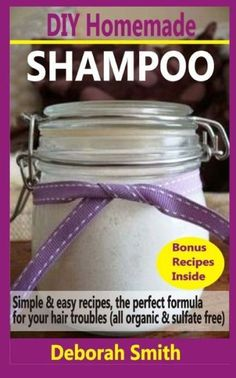DIY Homemade Shampoo: Simple & Easy Recipes, The Perfect Formula For Your Hair Troubles (All Organic #BakingSodaForHair Homemade Shampoo Recipes, Homemade Body Care, Homemade Beauty Recipes, Natural Beauty Recipes, Homemade Beauty Products, Baking Soda For Dandruff, Baking Soda For Hair, Baking Soda Shampoo, Baking Soda Uses
