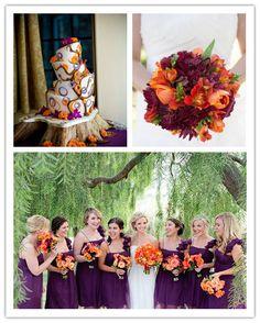 Purple and Pumpkin Fall Wedding