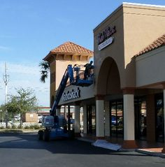 AFS Painting Job In Progress, Winter Park shopping Center.