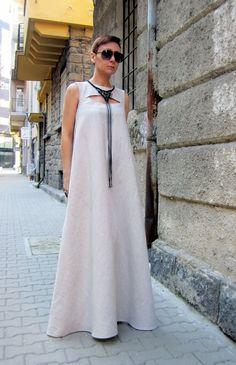 Linen dress / Long dress / Kaftan dress / Maxi dress by CARAMELfs
