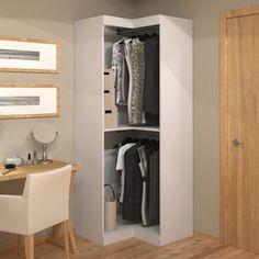 three hangrods standing space bella free contempo corner wardrobe closet w