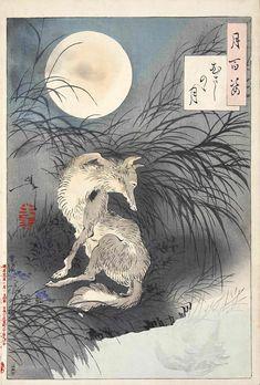 むさしのゝ月(『月百姿』シリーズ/画・月岡芳年)の拡大画像