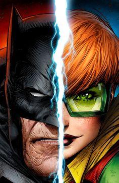 Carrie Kelly, and Bruce Wayne- Dark Knight Returns