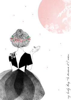 """La danseuse et l'oiseau"" illustration de My Lovely Thing  http://www.mylovelything.com/"