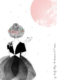 """La danseuse et l'oiseau"" illustration de My Lovely Thing  http://www.mylovelything.com/"
