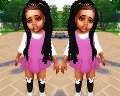 My Sims 4 Blog: Jumbo Braids Hair for Toddlers by Ebonix