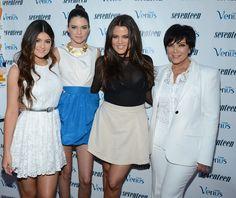 Kris Jenner and Kendall Jenner - Seventeen Celebrates Kendall Jenner And Kylie Jenner