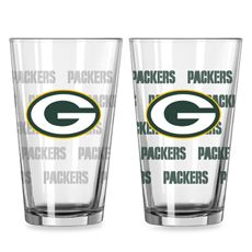 NFL Green Bay Packers Color Changing Pint Glasses (Set of 2) @BedBath