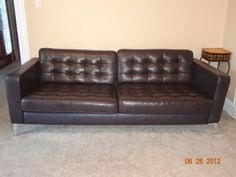 Black Leather IKEA Couch