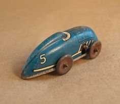 Lucky Number 5 / Rustic Worn Tin Lucky Car by rouilly on Etsy, $45.00