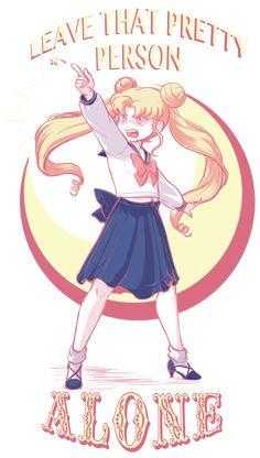 "Usagi says ""Leave that pretty person alone!!"""