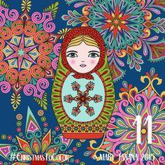 © Mary Tanana 2015 Christmas to Color-Matryoshka