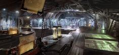 Dead Space - concept art by Ryan Church Spaceship Interior, Spaceship Art, Spaceship Concept, Dead Space, Cyberpunk, Space Lab, Sci Fi Environment, Alien Concept, Futuristic City