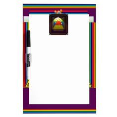 Dry Erase Board with Abstract Border