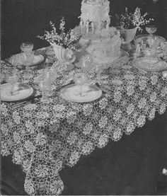 344 pdf vintage 1940s tablecloth crochet pattern linen napkins 348 vintage 1940s tablecloth crochet pattern retro home decor dining table table setting housewarming gift pdf instant download doily dt1010fo
