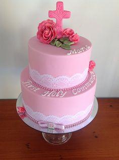 2 Tier First Communion Cake