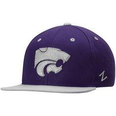 premium selection 4b112 d5ace Men s Zephyr Purple Kansas State Wildcats Z11 Snapback Adjustable Hat