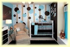 This is so cute. I love chocolate and pastels for baby rooms :)