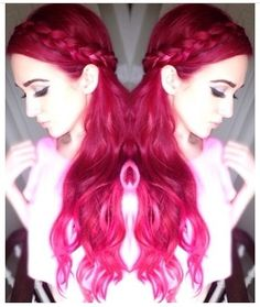Love this color it's red but has a tint of pink to it