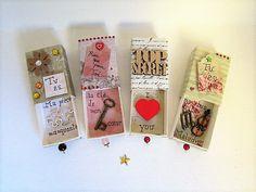 message d'amour dans boite allumette : Boîtes, coffrets par ellah-works