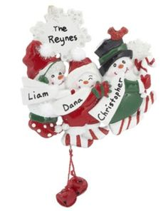 Snowman Snowflake Family of 3 - http://www.247babygifts.net/snowman-snowflake-family-of-3-2/
