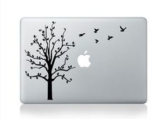 "Birds Tree Apple Macbook Air/Pro/Retina 13/15/17"" Vinyl Sticker Skin Decal in Computers/Tablets & Networking, Laptop & Desktop Accessories, Case Mods, Stickers & Decals | eBay"
