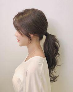 My Hairstyle, Pretty Hairstyles, Wedding Hairstyles, Korean Hairstyles Women, Japanese Hairstyles, Long Asian Hairstyles, Redhead Hairstyles, Korean Long Hair, Korean Hairstyle Long