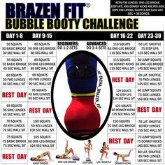 Brazen Fit Bubble Booty Challenges (4/18-5/17/14)