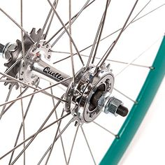 Quella Turquoise Single Speed Deep-V Fixie Flip-Flop hub Wheels - UKsportsOutdoors Speed Bike, Cycling Accessories, Cycling Gear, Road Bikes, Vintage Bicycles, Flip Flops, Wheels, Deep, Turquoise
