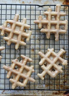 Maple Glazed Doughnut Waffles {traditional and gluten free recipes} by Barefeet In The Kitchen