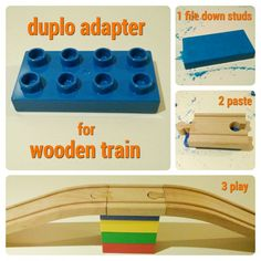 DIY: a #Duplo adapter for #wooden #train