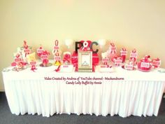 Candy/Lolly Buffet for a Wedding - Red Dessert Table