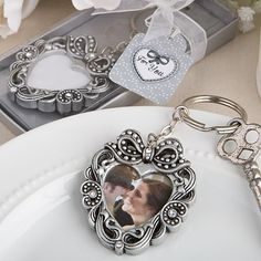 Vintage Heart Photo Key Chain