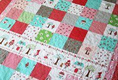 Little Red Riding Hood patchwork quilt ~ tasha noel