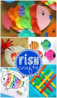 Little Fish Crafts for Kids - Crafty Morning Creative Little Fish Crafts for Kids (Fun for ocean themed art projects) Daycare Crafts, Toddler Crafts, Ocean Crafts, Ocean Themed Crafts, Art For Kids, Kids Fun, Kid Art, Pbs Kids, Ocean Themes