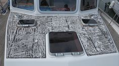 This is how areas of the book look once the old teak has been removed. #boat #Corvette #Corvette320 #motoryacht