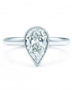 Pear-Cut Diamond Engagement Rings | Martha Stewart Weddings