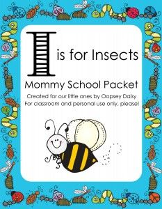 I is for Insects Preschool Packet. one of my favorite subjects! Toddler Learning, Fun Learning, Learning Activities, Preschool Activities, Teaching Kids, Insect Activities, Letter Activities, Party Activities, Preschool Worksheets