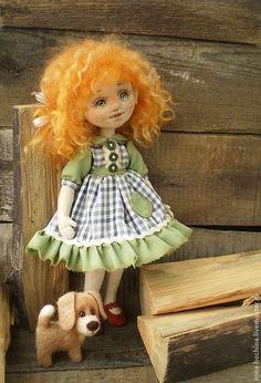 """Коллекционные куклы ручной работы. Ярмарка Мастеров - ручная работа """"Мой  храбрый защитник!"""" Текстильная авторская кукла. Handmade."""