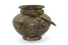 19c Antique fine detailed Brass Hindu ritual Water Pot Kalash Lota. G7-653
