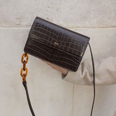 Acrylic Chain Crossbody Nutella Crocodile Bag, Vegan Leather, Shop The Latest Collectoin At Affordable Price. Cute Purses, Purses And Bags, Nutella, Vegan Handbags, Chain Crossbody Bag, Cute Bags, Up Girl, Online Bags, Fashion Bags