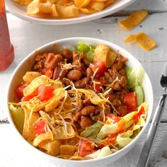 Need more potluck salad recipes? Get other potluck salad recipes for your dinner or gathering. Taste of Home has many tasty potluck salad recipes, potluck salads, and potluck salad recipe ideas. Potluck Recipes, Mexican Food Recipes, Cooking Recipes, Dinner Recipes, Dinner Ideas, Ground Beef Dishes, Ground Beef Recipes, Ground Meat, Potluck Salad