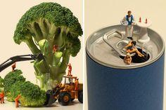 ¿Cómo sería el mundo si la #comida fuera gigante y nosotros seres diminutos a su lado? Descúbrelo!!