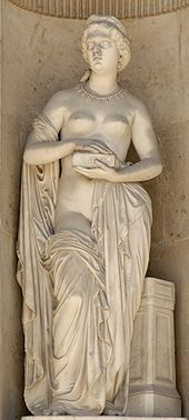"""Pandora : by Pierre Loison (1816–1886)In Greek mythology, Pandora gift"""", thus """"all-gifted"""" or first human woman. As Hesiod related it, each god helped create her by giving her unique gifts. Zeus ordered Hephaestus to mold her out of earth as part of the punishment of humanity for Prometheus' theft of the secret of fire, and all the gods joined in offering her """"seductive gifts""""."""